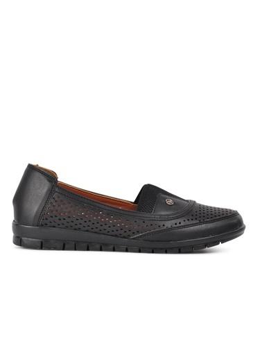 Park Moda Park Moda 406 Nut Kadın Günlük Ayakkabı Siyah